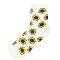 Socks - Sunflowers - Other - Women - Modekungen