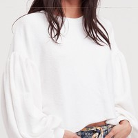 free people - sleeves like these pullover - white
