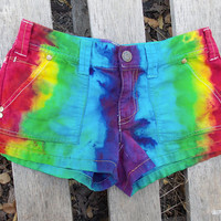 American Eagle Brand Bright Rainbow Dyed Shorts