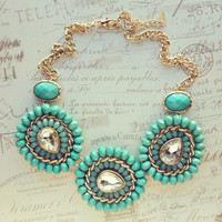Pree Brulee - Teal Paisley Necklace