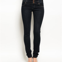 Lila Denim Jeans- Black