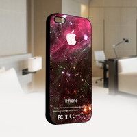 Tarantula Galaxy Nebula with Apple Logo - Photo on Hard Cover For Iphone 4 / 4S Case, iPhone 5 Case - Black, White, Clear