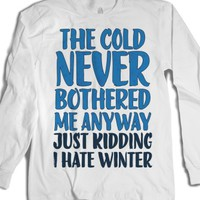 White T-Shirt | Funny Frozen Parody Shirts