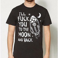 Fuck You To The Moon And Back T shirt - Spencer's