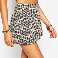 Hollister Geo-Printed Cullotte Shorts Co-ord