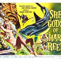 She Gods Of Shark Reef movie poster Sign 8in x 12in