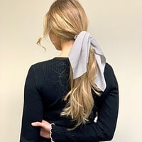 Hair Tie Scarf Scrunchie - Stripes