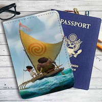 Moana Disney Ship Leather Passport Wallet Case Cover