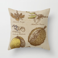 Clockwork Fruit Throw Pillow by Eric Fan