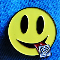Tripping Bass Bassnectar LSD Smiley Hat Lapel Pin