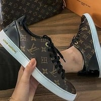 LV Louis Vuitton Low-Top Frontrow Sneaker Shoes