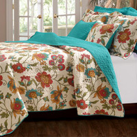 Clearwater Bohemian Floral Vined Bedding Boho Quilt Twin/Full/Queen/King 3 Pc - Free Shipping