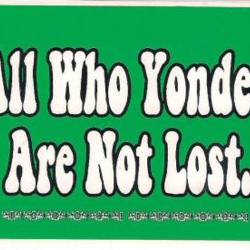 Yonder Mountain String Band - All Who Yonder...Sticker