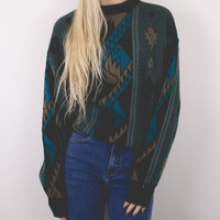 Vintage Aztec Tribal Sweater