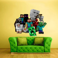 Full Color Wall Decal Vinyl Sticker Decor Art Bedroom Design Mural Like Paintings Minecraft Objects Creeper Steve Sheep Video Game (col422)