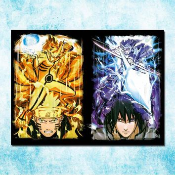 Naruto Sasauke ninja  Anime Uchiha Sasuke Haruno Sakura Hatake Kakashi Poster Print 13x18 24x32 inches Wall Pictures Home Decoration 02-06 AT_81_8