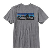 Patagonia Men's P-6 Logo Cotton T-Shirt | Gravel Heather