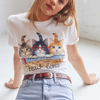 Silence + Noise Boardwalk Cat Tee | Urban Outfitters