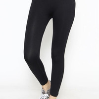 Colorblock Yoga Pants - Black/Grey