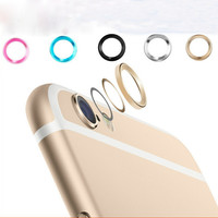 New ! Jewelry Rear Camera Glass metal lens protector Hoop Ring Guard Circle Case Cover for iPhone 6 4.7'' & Plus 5.5''