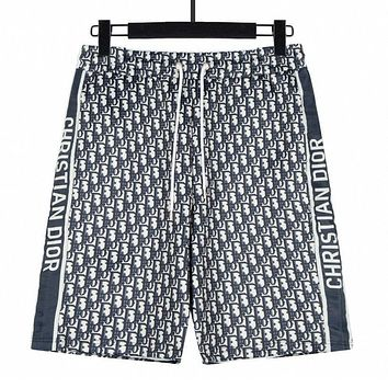 Dior gradient letter print men's and women's casual shorts