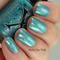 Mermaid Madness - Turquoise Mermaid Polish w/ Shimmer and Glitter