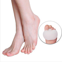 1 Pair High-heeled Shoes Forefoot Cushion Pads Silicone Insole Orthotics Half Yard Pad Foot Care Insoles Metatarsal Toe Support