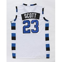 One Tree Hill Ravens Basketball Jerseys #23 Nathan Scott White