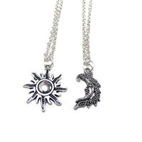crescent moon and sun friendship necklaces - Google Search