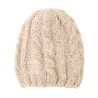 With Love From CA Fitted Knit Beanie - Womens Hat - Beige - One
