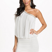 One Shoulder Ruched Dress, NLY One