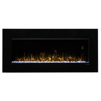 Shop Dimplex 43-in W 4,231-BTU Black Metal Wall-Mount Fan-Forced Electric Fireplace with Thermostat and Remote Control at Lowes.com