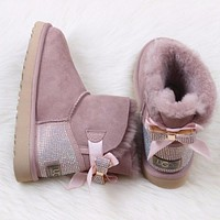 Ugg 1015063 Waterproof Antifouling W Brita Twilight Classic II Mini Boot Sheepskin Boots Snow Boots