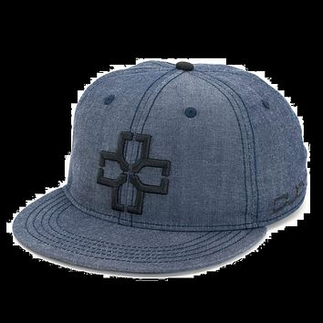DUO Brand Champ Snapback Hat - Chambray