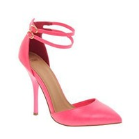 ASOS   ASOS PRIOR Pointed High Heels With Ankle Straps at ASOS