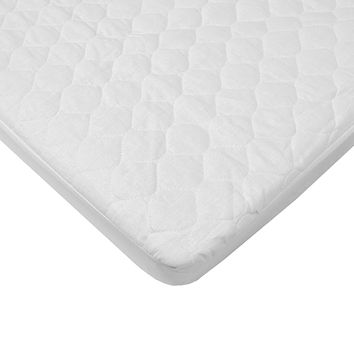 American Baby Company Waterproof Quilted Cotton Bassinet Size Fitted Mattress Pad Cover, White, for Boys and Girls Pack of 1