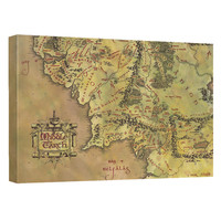 Lord Of The Rings Middle Earth Map Canvas Wall Art Lord Of The Rings Middle Earth Map