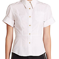 Marc by Marc Jacobs - Stretch-Poplin Fencing Shirt - Saks Fifth Avenue Mobile