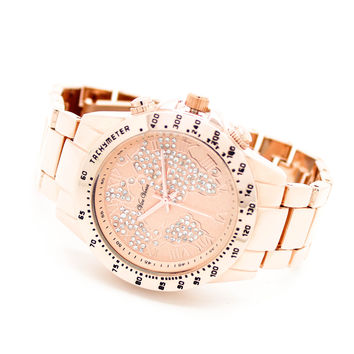 World map metal watch (3 colors)