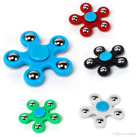 2017 5 balls Plastic EDC Spinner Funny Anti Stress Toys Fidget Spinner Desk Anti Stress Finger Spin Spinning Top EDC Sensory Toy Cube Gift