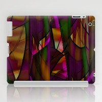 Looking Through Stained Glass 2 iPad Case by Jenartanddesign
