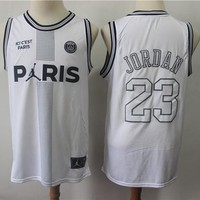 Paris Saint-germain X Air Jordan 23 White Basketball Jersey | Best Online Sale