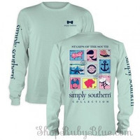 """Simply Southern """"Preppy Stamp"""" Long Sleeve Tee"""