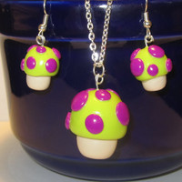 League of Legends Inspired: Teemo Toxic Mushroom Earrings, Necklace or Keychain!