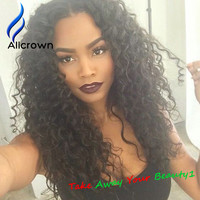 10A Grade Glueless Full Lace Human Hair Wigs Kinky Curly 130% Density Brazilian Hair Lace Front Wigs For Black Women U Part Wig