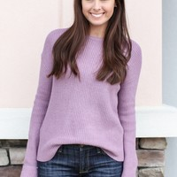 Sweet As Candy Sweater - Lavender