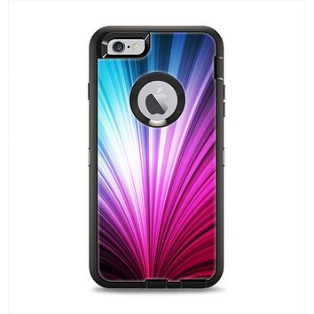The Swirly HD Pink & Blue Lines Apple iPhone 6 Plus Otterbox Defender Case Skin Set