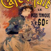 Paris Cafe Malt Ad by Lucien Lefevre Fine Art Print