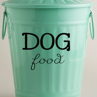 Dog Food Vinyl Decal • Storage Container Decor - Personalized Dog Bowl - Dog Food Storage Decal