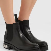 Alexander McQueen - Embellished leather Chelsea boots